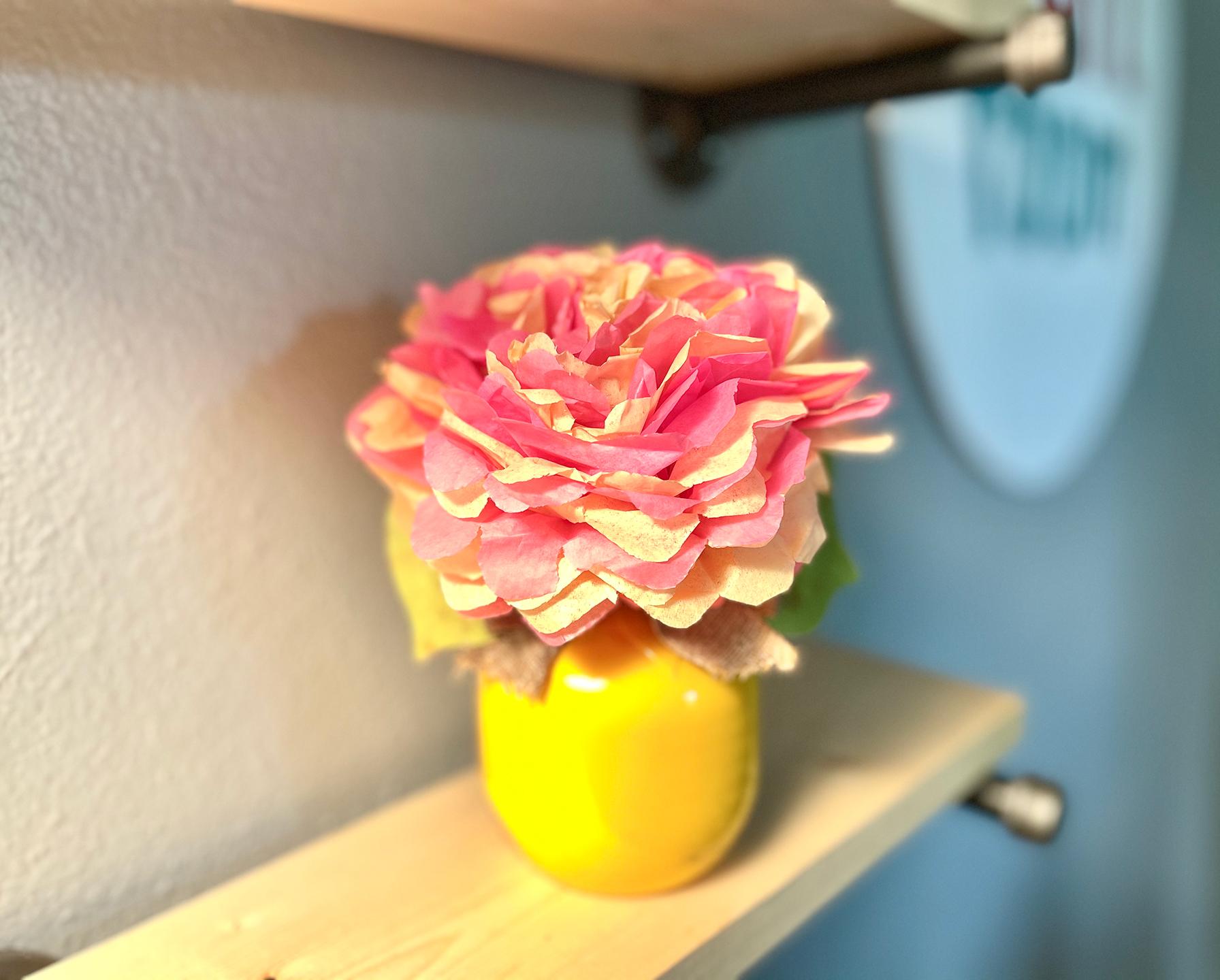 flower on a shelf
